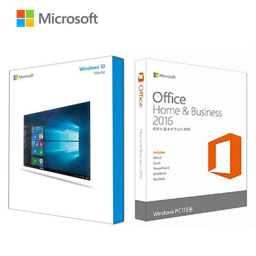 Windows 10 Home (FPP) + Office Home & Business 2016 (PKC)